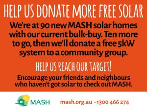 Help us donate more free solar!
