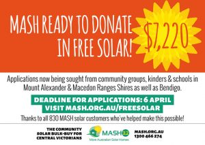 MASH ready to donate $7,220 in free solar!